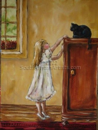 """girl and her cat"""