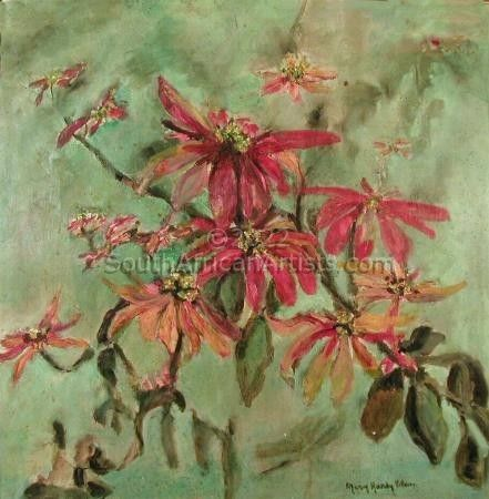 """Still Life with Poinsettias"""