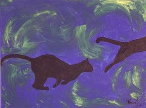 """The Cat Jumps: Blue"""