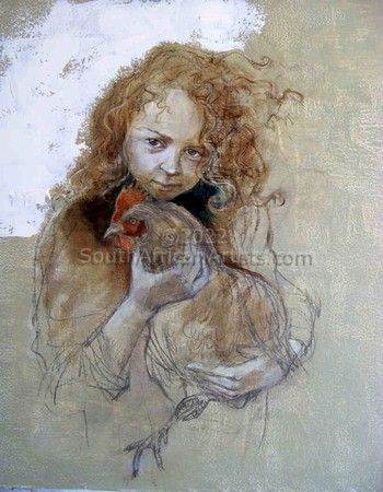 """Girl with Chicken"""