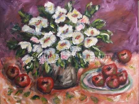 """Still Life with White Flowers"""