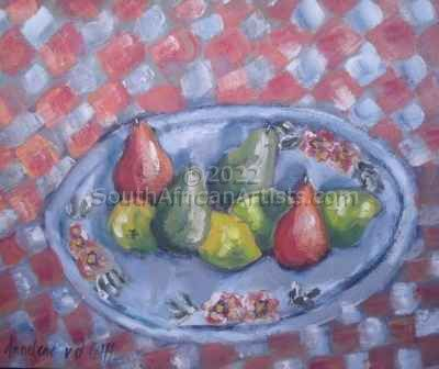 """Fruit With Striped Cloth"""