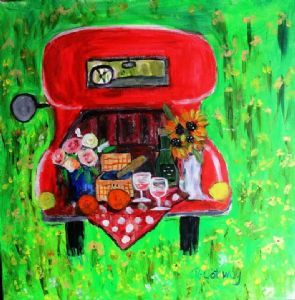 """Having a Picnic on the Red Bakkie"""