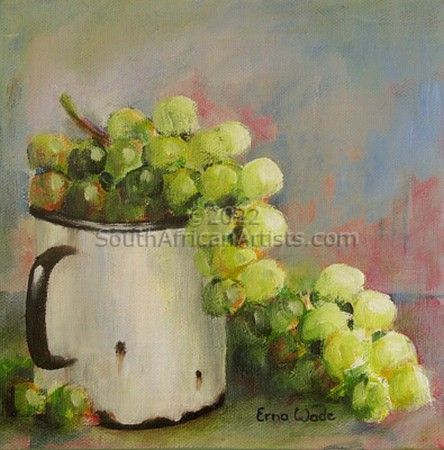 """Grapes in Enamel I (sold as pair)"""