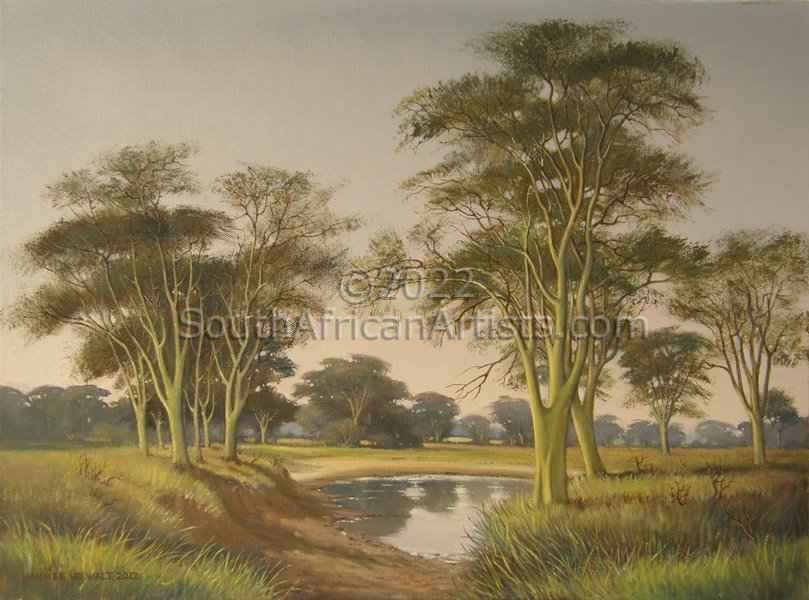 """Water Hole with Fever Trees"""