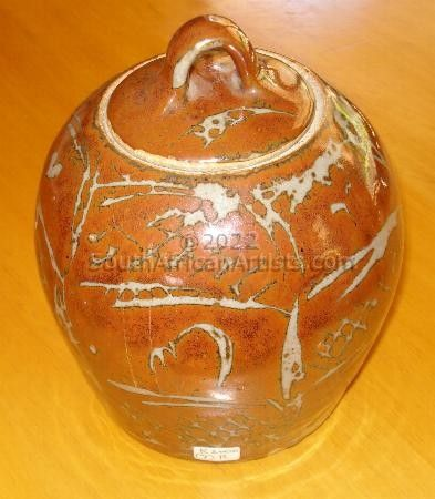 """Large Ginger Jar With Lid"""