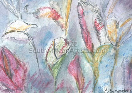 """Lilies in Pink"""