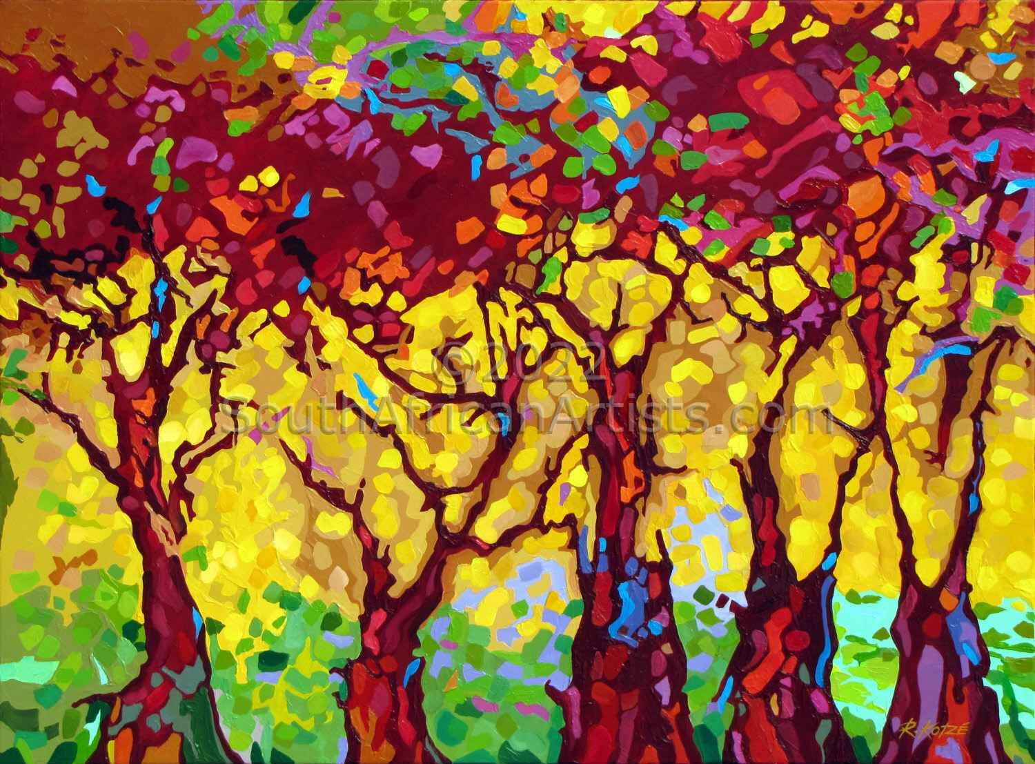"""Dappled Forest Landscape Painting"""