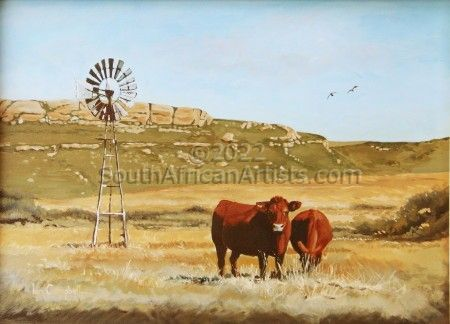 """Waterkloof Cattle with Windmill"""