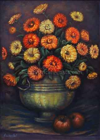 """Daisies Copper Pot"""