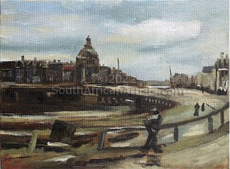 """View of Amsterdam (After Van Gogh)"""
