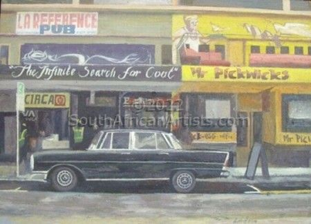 """Winged Merc at Mr Pickwick's"""
