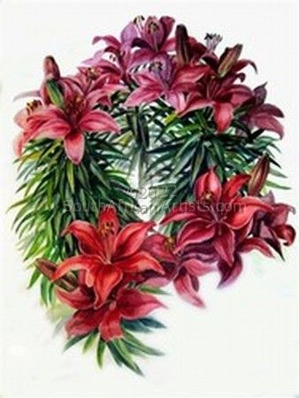 """Red Asian Lilies"""