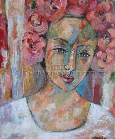 """Lady with Roses II"""