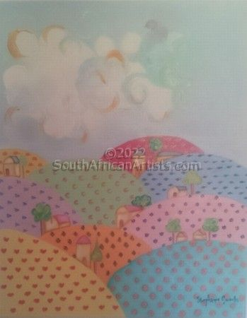 """Pastel Mountain Range"""