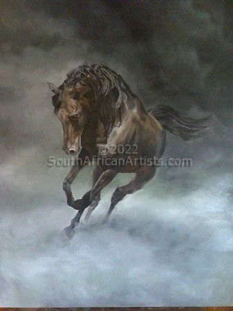 """Stallion in a Storm"""