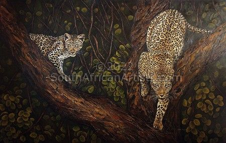 """Leopards in Tree"""