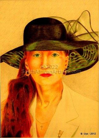 """Lady in Black Hat"""