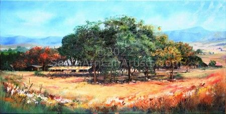 """Natal Farm with Trees"""