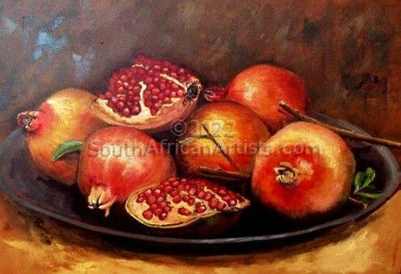 """Bak met Granate / Bowl with pomegranates"""