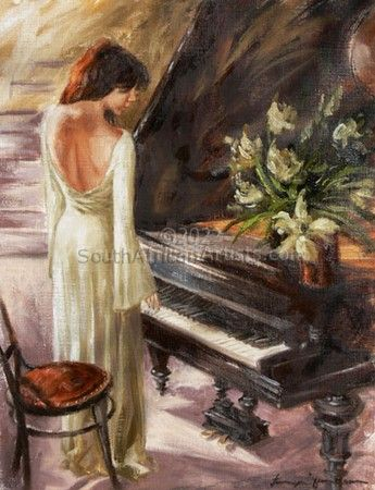 """Lady by Piano"""