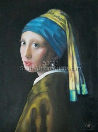 """Girl with Pearl Earring Reproduction"""