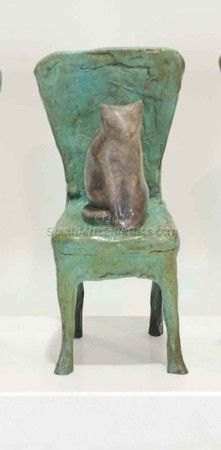 """Sitting Cat On Chair 2"""