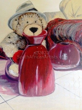 """Teddy with Red Pot"""