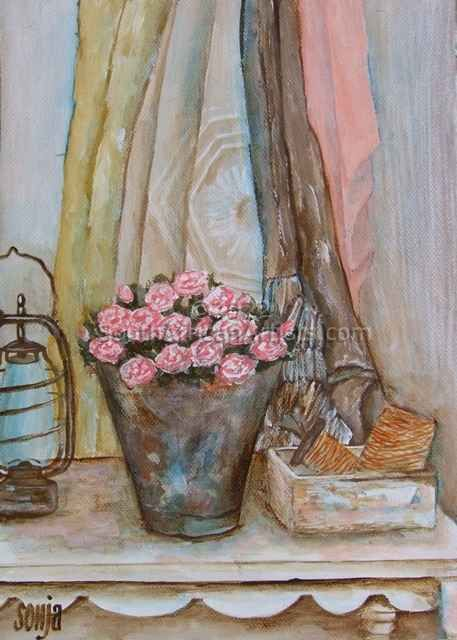 """Still Life on Table With Roses"""
