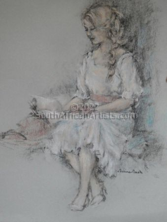 """Young Girl Reading"""