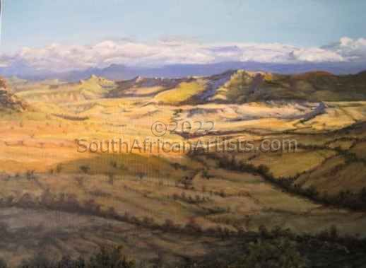 """View of Drakensberg with Receding Shadows."""