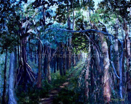 """Landscape with Path Through Forest"""