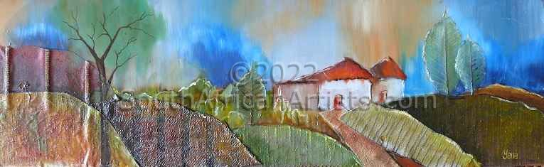 """Landscape with Trees and House 2"""