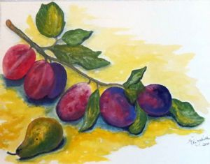 """Plums and a Pear"""