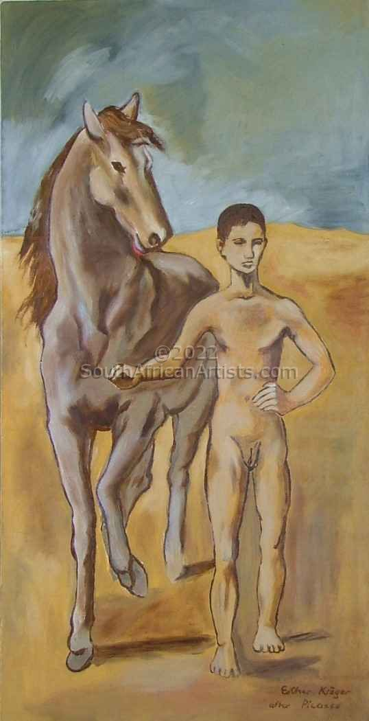 """Boy Leading a Horse After Picasso"""