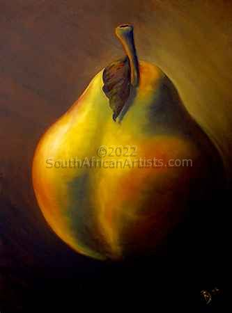"""Self Portrait as a Pear"""