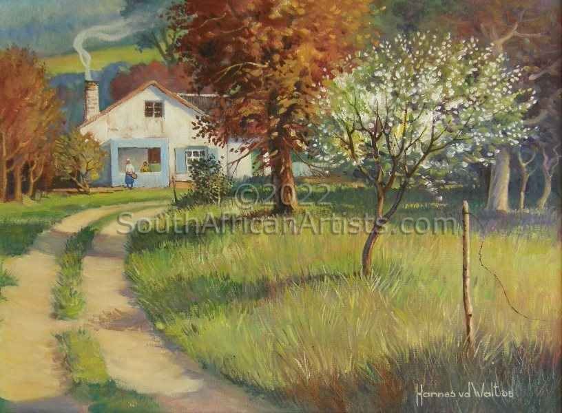 """Labourer's Cottage with Flowering Pear Tree"""