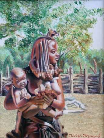 """Himba Mother and Child"""