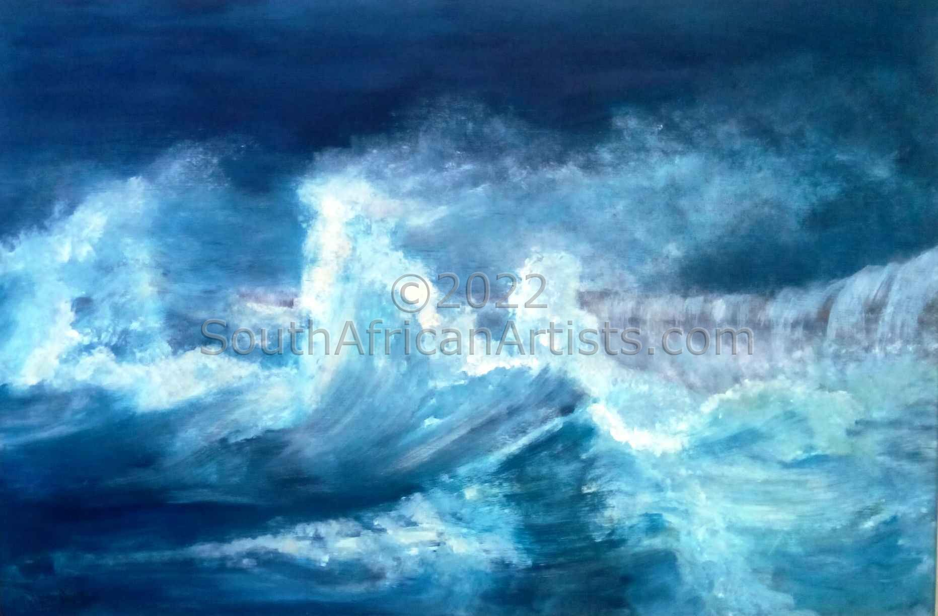 """Stormy Seas at the Pier"""