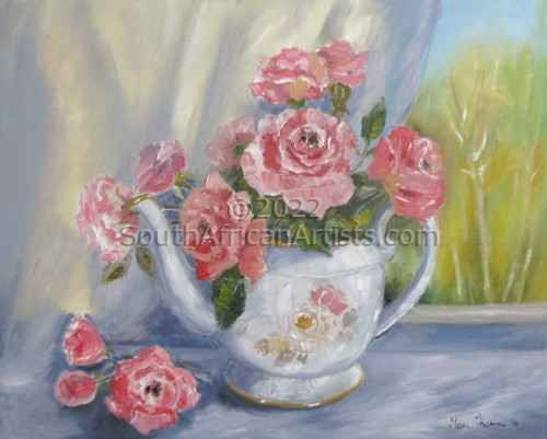 """Granny's Teapot with Roses"""