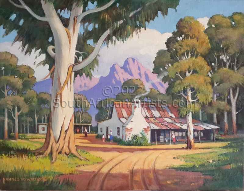 """Cape Farm Yard with Gum Trees RESERVED"""