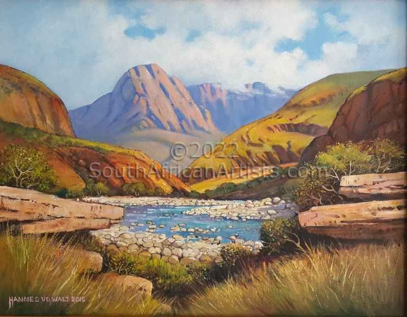 """Mountain Scene and Stream"""