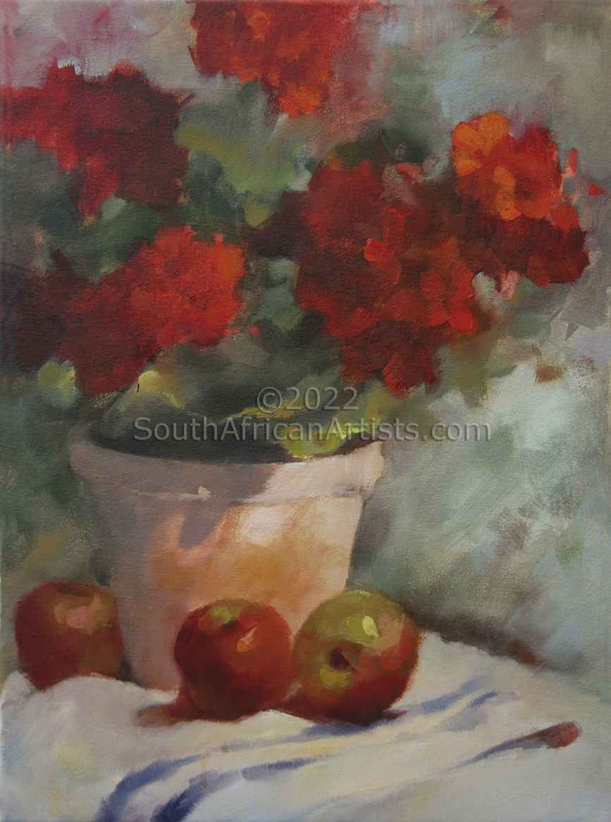 """Geraniums and Apples"""