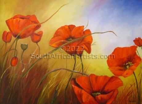 """Poppies in Bloom I"""