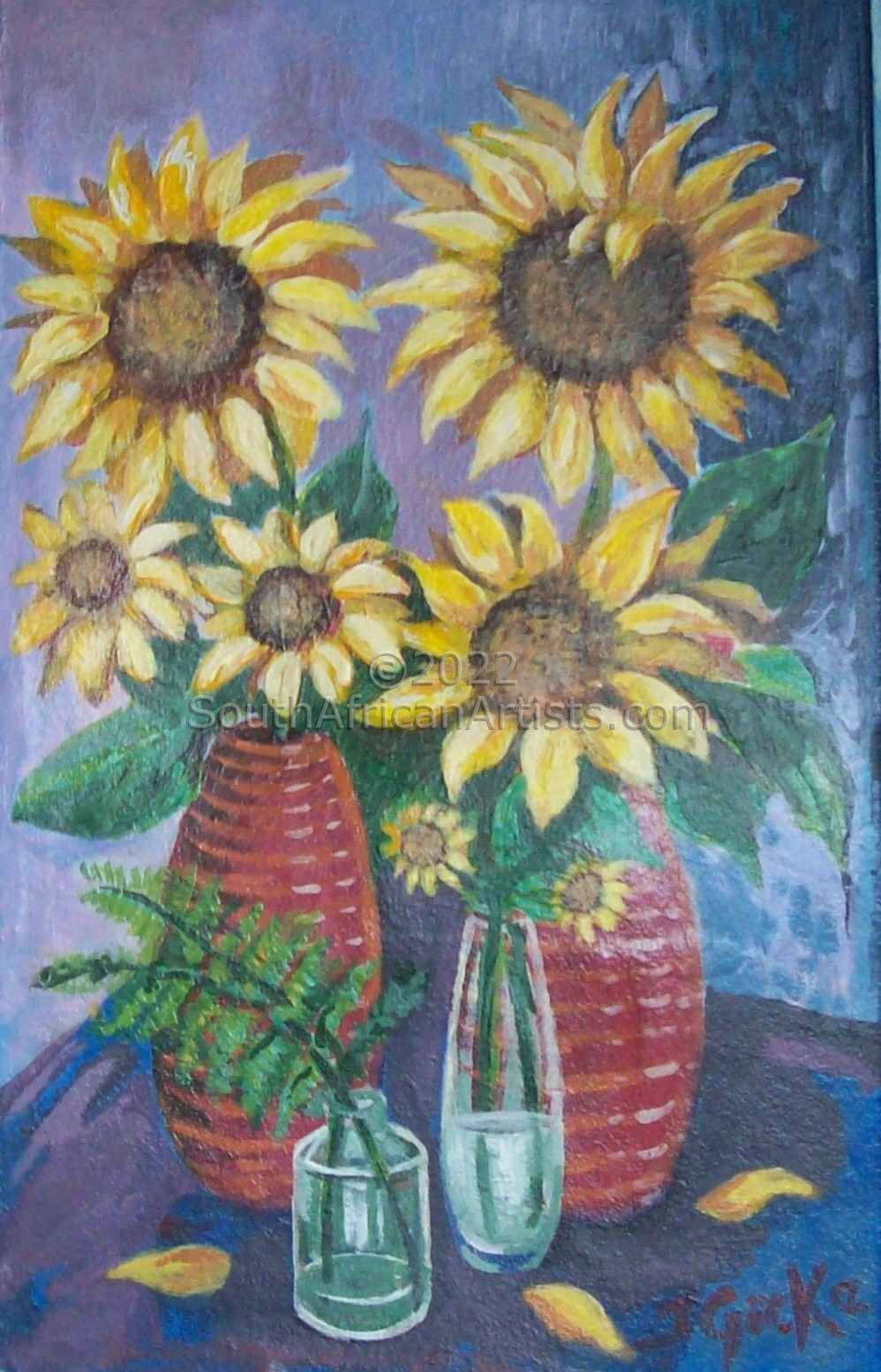 """Sunflower and Vase"""