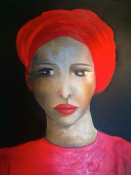 """Lady With The Red Turban"""