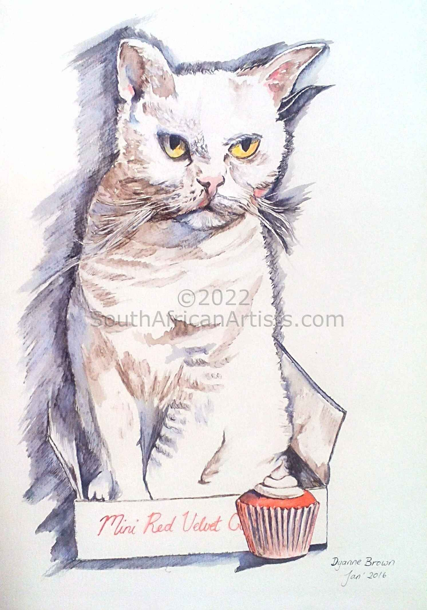 Dyanne Brown - American Wirehair with Red Velvet Cupcakes | Animals ...