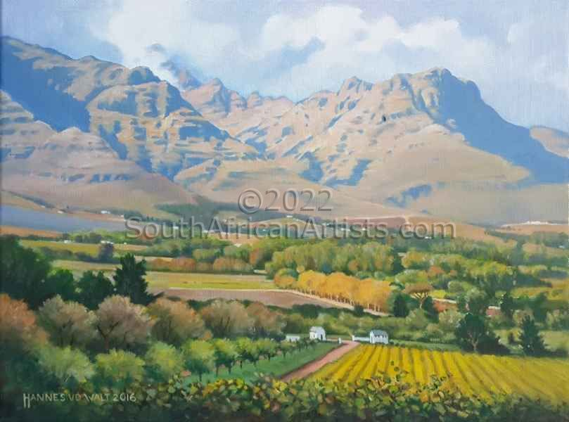 """Stellenbosch Mountain on a Morning in Autumn"""