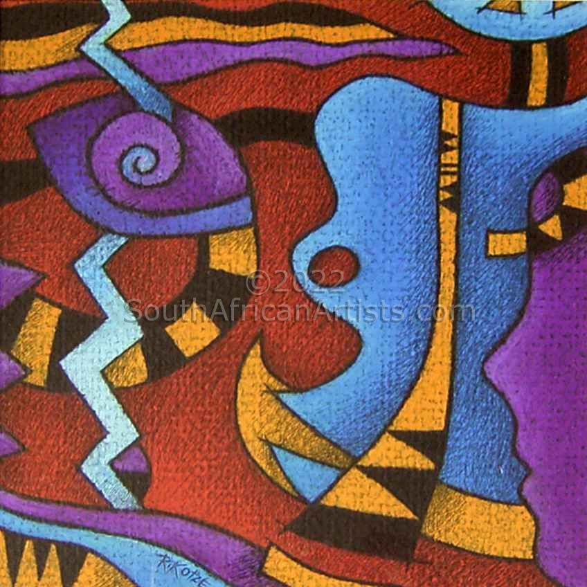 """African Dreams Abstract Pastel"""