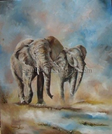 """Elephants approaching water"""